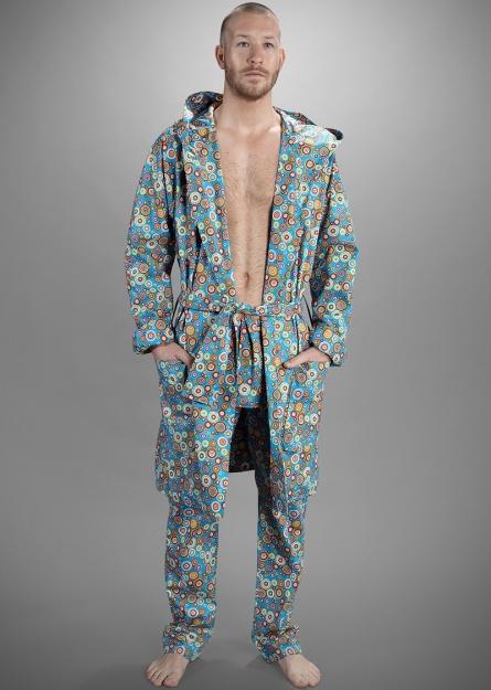 retro reversible robe long